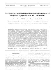 Are there activated chemical defenses in sponges of the genus ...