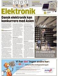 dansk elektronik kan konkurrere med Asien - LiveBook