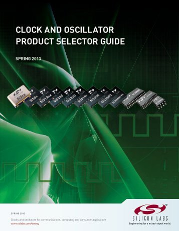Clock and Oscillator Product Selector Guide - Silicon Labs