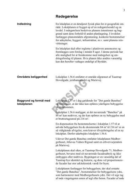 Lokalplan 30 MB PDF Marievej - Taastrup Netavis