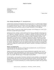 Henvendelse til Folketingets Arbejdsmarkedsudvalg vedr ...