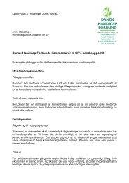 Dansk Handicap Forbunds kommentarer til SF's handicappolitik