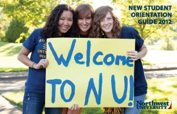 New studeNt OrieNtatiON Guide 2012 - Eagle - Northwest University