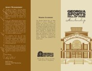 Membership Brochure - Georgia Sports Hall of Fame