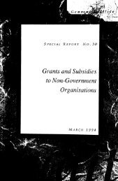 Grant and subsidies to non governement organisations