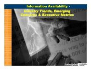 Information Availability - Industry Trends, Emerging ... - MISRC
