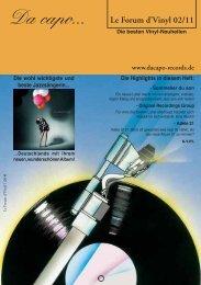 Le Forum d´Vinyl Ausgabe Februar 2011 - Da capo