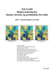 TSUNAMI Risikovurdering for danske, færøske og ... - DMI