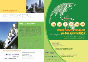 World Urban Transport Leaders Summit - LTA Academy