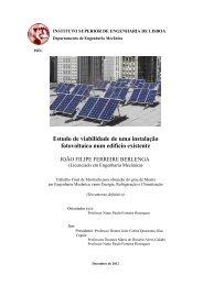 Estudo de viabilidade de uma instalação fotovoltaica num edifício ...