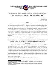 Gümüşhane Üniversitesi Sosyal Bilimler Elektronik Dergisi Sayı 3 ...