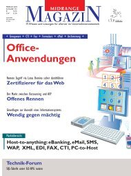 Host-to-anything: eBanking, eMail, SMS, WAP ... - Midrange Magazin