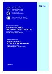 ekologiczne aspekty wytwarzania energii elektrycznej - MANHAZ ...