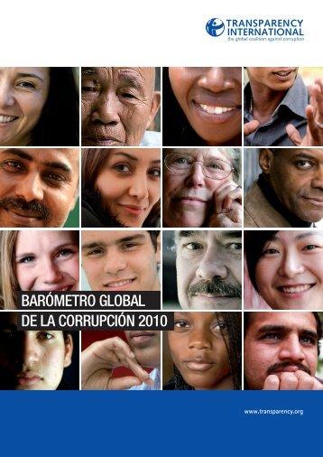 Global Corruption Barometer 2010 - La Sociedad Civil en línea