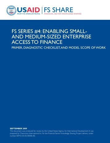 Enabling Small- and Medium-Sized Enterprise Access to Finance