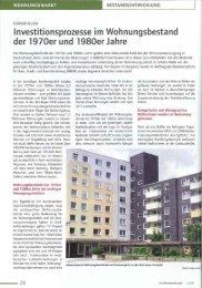Investitionsprozesse im Wohnungsbestand der 1970er und 1980er ...