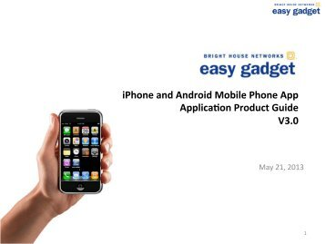iPhone and Android Mobile Phone App Applicabon Product Guide ...
