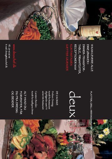 Download / Print PDF brochure - Deux Chef