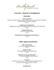 A la carte – Smaken av Sundbytunet Forretter Salat, suppe og ...