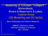 Modelling of Pollutant Transport : Watersheds, Rivers ... - MANHAZ