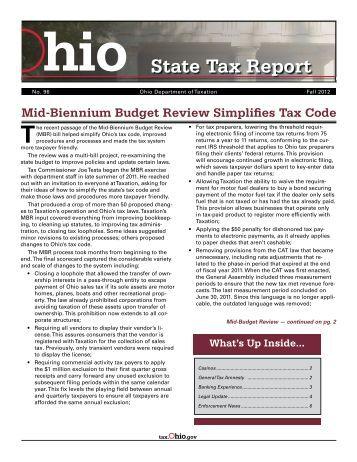 Tax Return Ohio State Tax Return