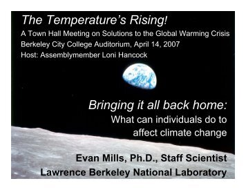 Bringing it All Back Home - Evan Mills - Lawrence Berkeley National ...