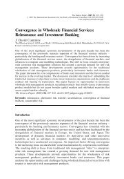 Convergence in Wholesale Financial Services - Geneva Association