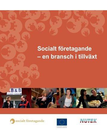 Socialt företagande – en bransch i tillväxt - Vägen ut!