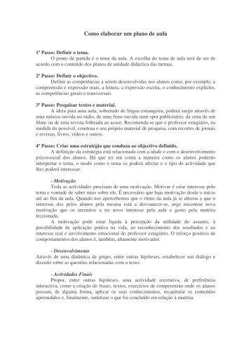Como elaborar um plano de aula - estagiario.org