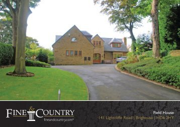 Field House 141 Lightcliffe Road | Brighouse | Hd6 ... - Fine & Country
