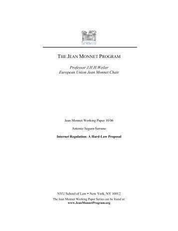6. the jean monnet program - New York University