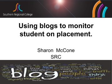 Using blogs to monitor students on