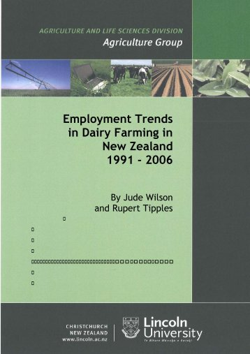 Employment trends in dairy farming in New Zealand 1991-2006