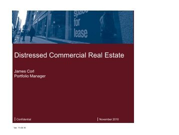 Distressed Commercial Real Estate