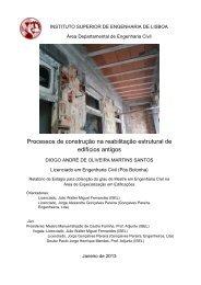 Processos de construção na reabilitação estrutural de edifícios antigos
