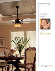 DECORATIVE CEILINGS - Armstrong