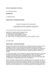 Fælles henvendelse - Danske Dagblades Forening