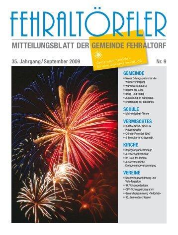 6. September 2009 - Gemeinde Fehraltorf