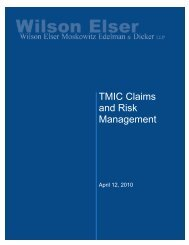 TMIC Claims and Risk Management - Target Markets