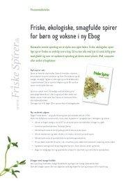 Meddelelse for e-bog på dansk og engelsk 2012 - Friske spirer