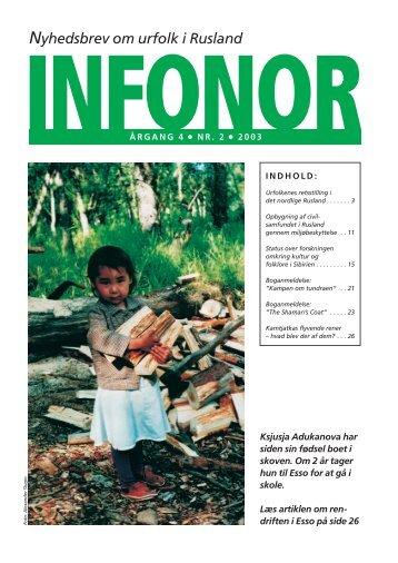 Nyhedsbrev om urfolk i Rusland - Infonor