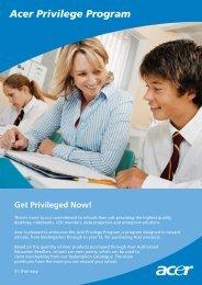 Acer Privilege Program Brochure