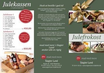 Julefrokost Julekassen - Slagter Lund ApS