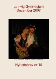 Nyhedsbrev nr. 10 (december 2007) - Lemvig Gymnasium