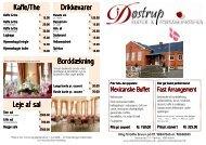 Generel menu - Forsamlingshus
