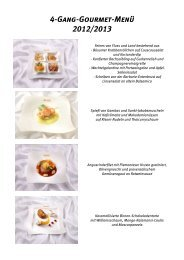 Vegetarisches 4-Gang-Gourmet-Menü 2012/2013