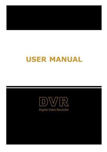 USER MANUAL 1