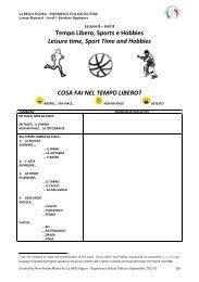 Tempo Libero, Sports e Hobbies Leisure time, Sport ... - Italian Week