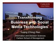 Transforming Business with Social Media Technologies - MISRC ...