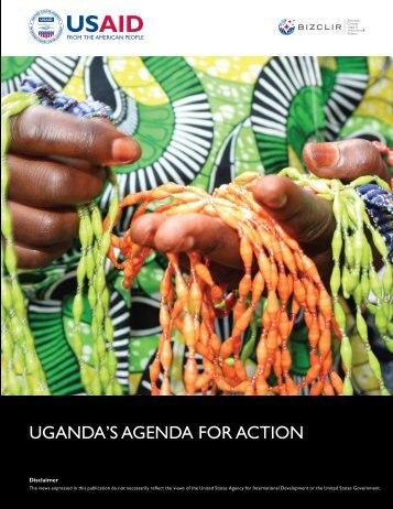 UGANDA'S AGENDA FOR ACTION - Economic Growth - usaid